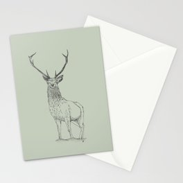 Woodland sage - stag Stationery Cards
