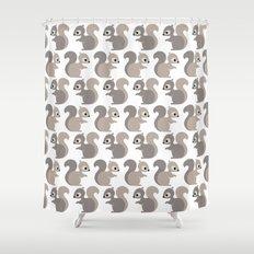 Grey squirrel Shower Curtain
