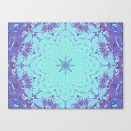 Plasma Flower Canvas Print