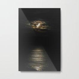 Moon lit Ocean Metal Print