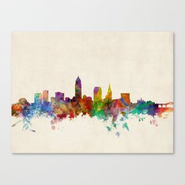 Cleveland Ohio Skyline Cityscape Canvas Print