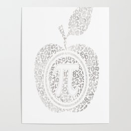 Apple Pi - Math Shirt, pi day T-shirt Poster
