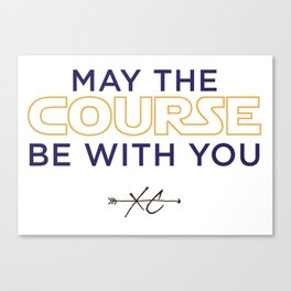 Purple & Gold: May the Course be With You Cross Country Canvas Print