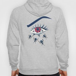 Creepy Red Eye With Ants Hoody