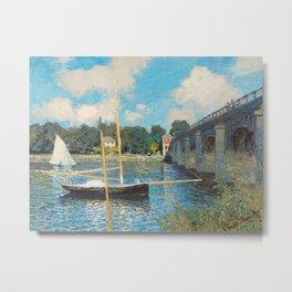 Claude Monet - The Bridge at Argenteuil Metal Print