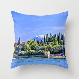 Lake Garda - Sirmione Throw Pillow