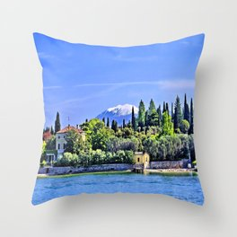 Lake Garda - Sirmione Throw Pillow