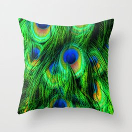 Peacock or Flower 2 Throw Pillow