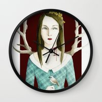 minnesota Wall Clocks featuring Minnesota Shrike by polly