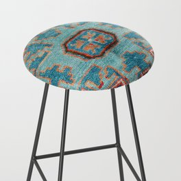 Karabakh  Antique South Caucasus Azerbaijan Rug Print Bar Stool