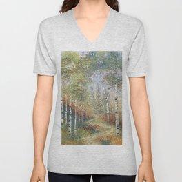 Birch Among the Pines Unisex V-Neck