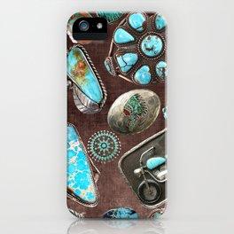 Vintage Navajo Turquoise stones iPhone Case