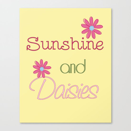 Sunshine and Daisies Canvas Print