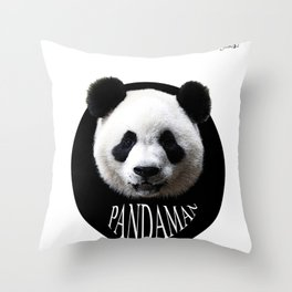 Panda cool man colors fashion Jacob's Paris Throw Pillow