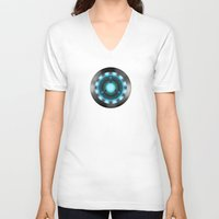 ironman V-neck T-shirts featuring IRONMAN by Yuliya L