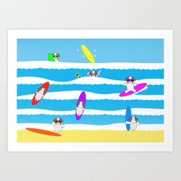 Totally Shih Tzu Surf Art Print