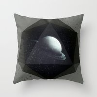 gem Throw Pillows featuring Dark Gem by DuckyB