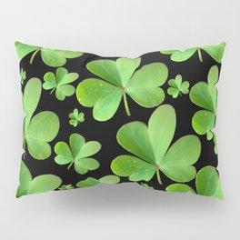 Clovers on Black Pillow Sham