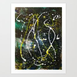 Abstract In Space Art Print