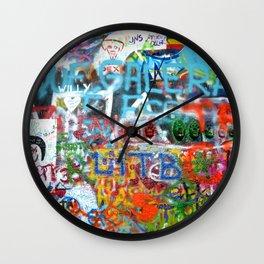 grafitti wall Wall Clock