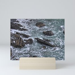 High Tide and Rock Formation Mini Art Print