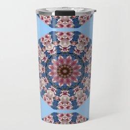 Floral mandala-style, Spring blossoms 002.2.2 Travel Mug