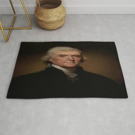 Rembrandt Peale's Portrait of Thomas Jefferson Rug