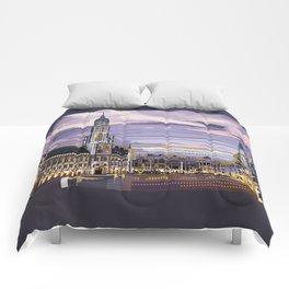 Brussels, Belgium pixel art Comforters
