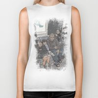 "it crowd Biker Tanks featuring SUBWAY CROWD by ""dfrnt"""