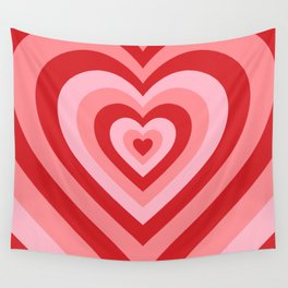 70s psychedelic pink heart Wall Tapestry