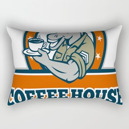 Army Sergeant Donkey Coffee House Cartoon copy Rectangular Pillow
