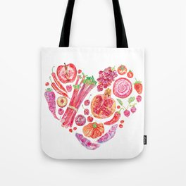 Fruit of Love Valentines Heart Tote Bag