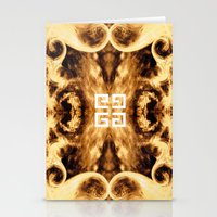 givenchy Stationery Cards featuring Givenchy antigona pouch with flames print by Le' + WK$amahoodT Boutique by Paynasa®