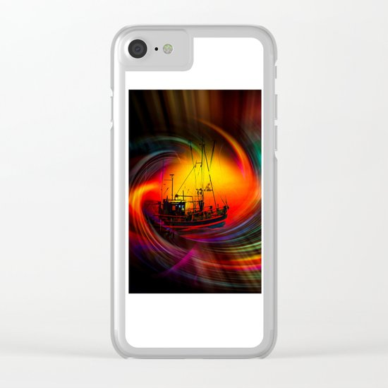 Time Tunnel 3 Clear iPhone Case