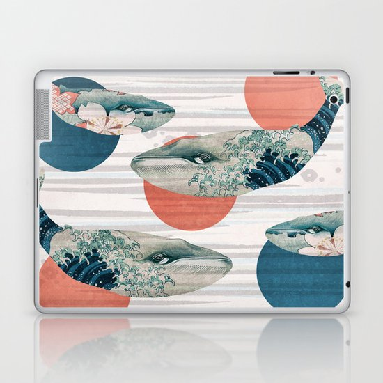 Whales and Polka Dots Laptop & iPad Skin