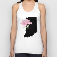 indiana Tank Tops featuring Indiana Silhouette by Ursula Rodgers