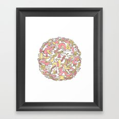 Sun Caves Framed Art Print