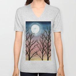 """Trees at Dusk"" Unisex V-Neck"