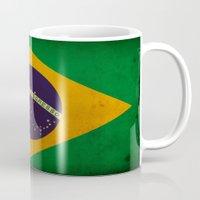 brasil Mugs featuring Brasil by NicoWriter