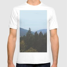 Mountain View White MEDIUM Mens Fitted Tee
