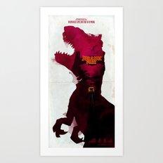 Inspired Movie Poster #2: Jurassic Park (1993) Art Print
