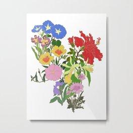 Morning Blooms Metal Print