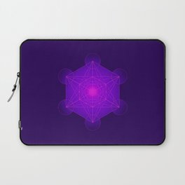 Metatron | Cube | Secret Geometry | Platonic | Matrix | Protects children Laptop Sleeve