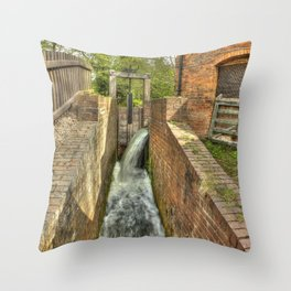 Sluice Gate at the Water mill Throw Pillow