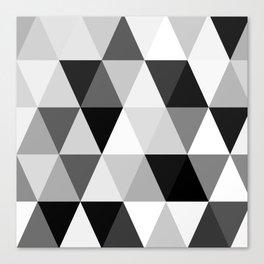 rombi black white Canvas Print