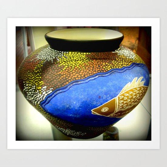 Aboriginal Art #2 - Pottery Art Print