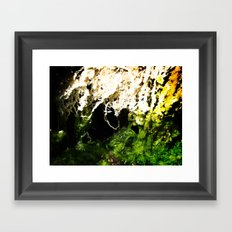 Moss Abstract Framed Art Print