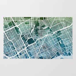 Detroit Michigan City Map Rug