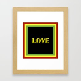 Jah Love Framed Art Print