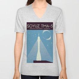 Soyuz TMA-5 Space Art Unisex V-Neck